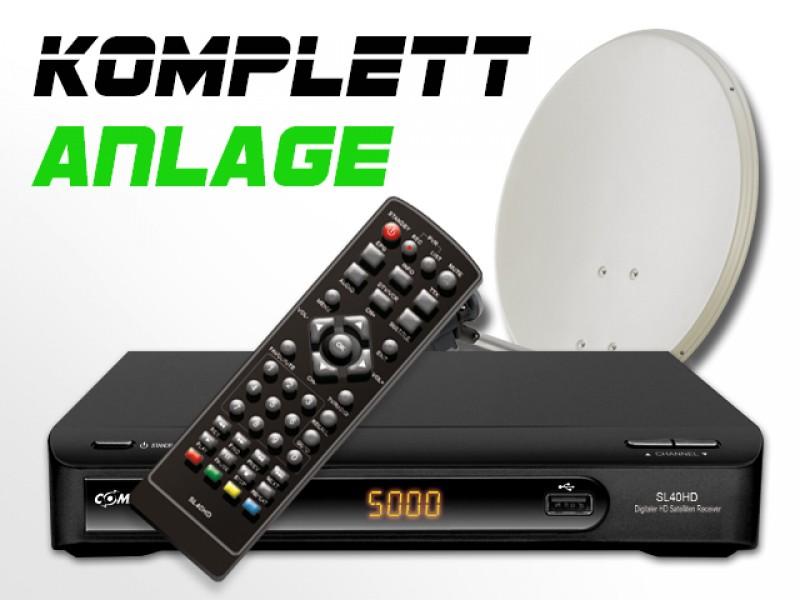 COMAG Digitale HDTV Twin Sat-Anlage Komplett-Set SL 40 HD (inkl. 80cm Antenne)