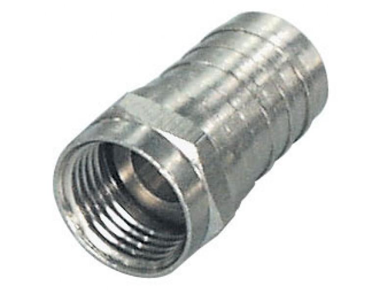 transmedia F-Stecker Crimp-Typ mit festem Crimpring für Kabel-R: 8,2mm / KH 120