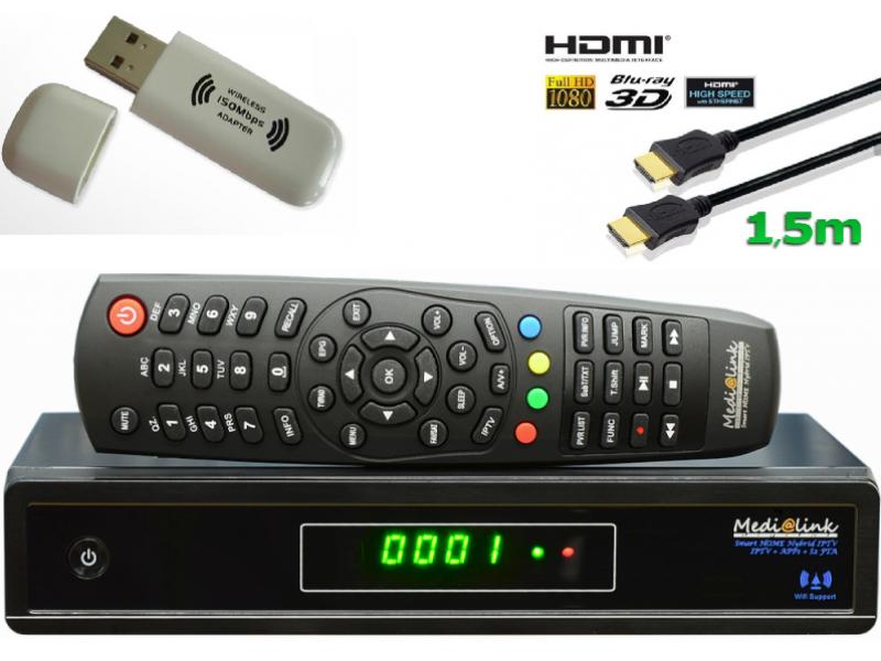 medialink smart home dvb s2 fta iptv full hdtv sat receiver inkl wla. Black Bedroom Furniture Sets. Home Design Ideas