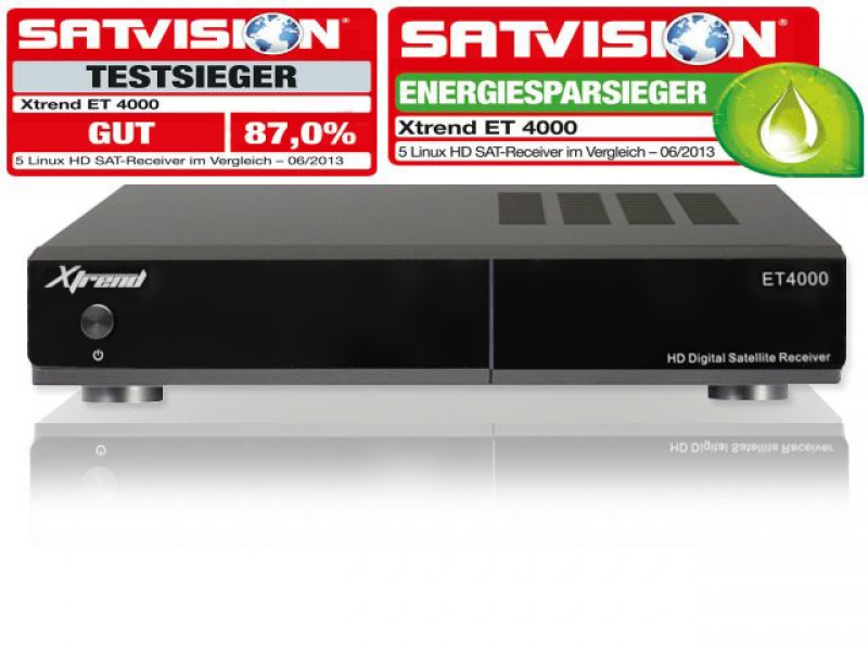Xtrend ET 4000 HD Linux Full HD HbbTV Sat Receiver USB