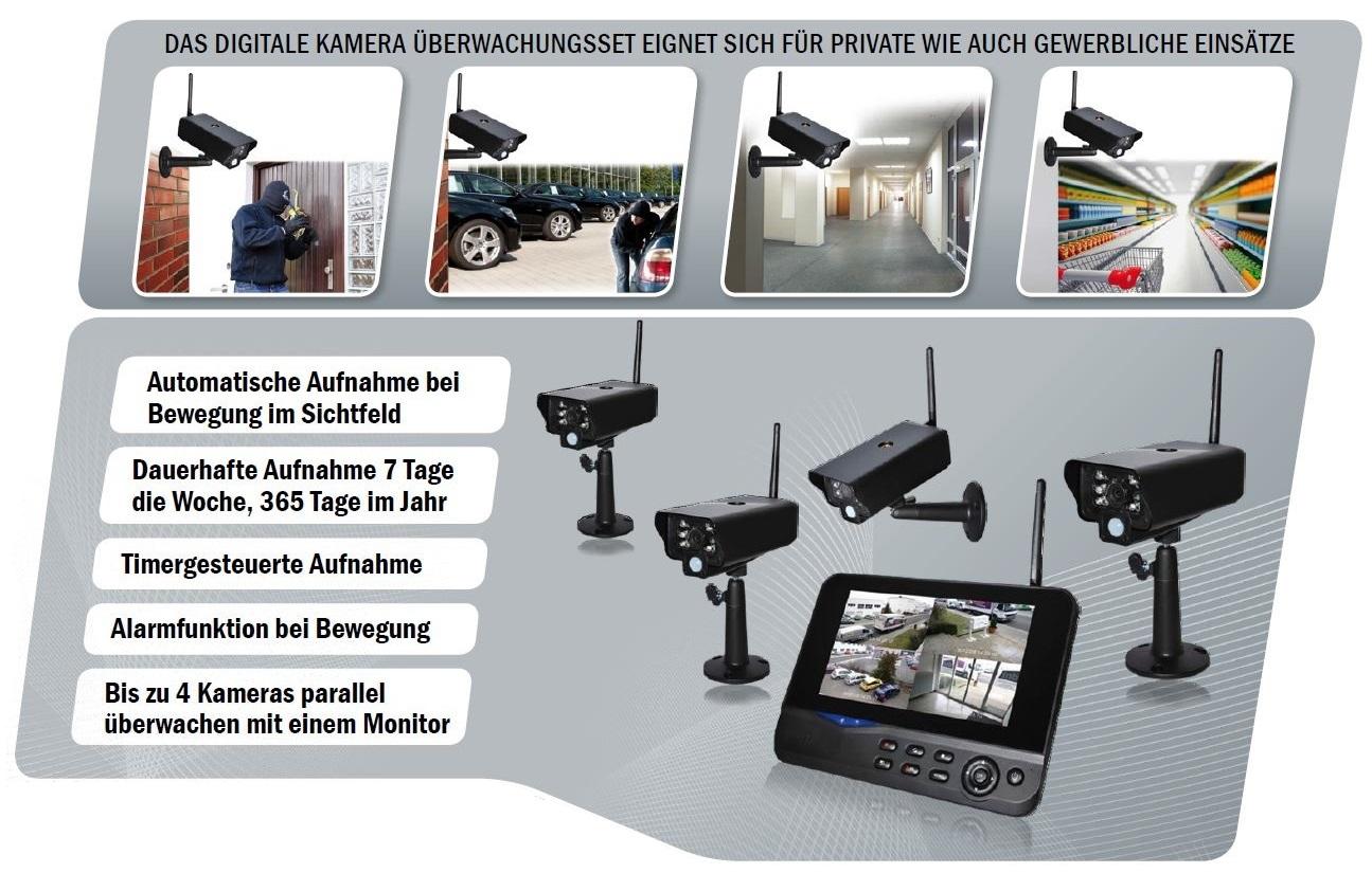 comag funk berwachungskamera video berwachung set 1 outdoor kamera 1 monitor ebay. Black Bedroom Furniture Sets. Home Design Ideas