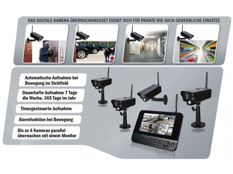 comag seccam11 digitale funk berwachungskamera video berwa. Black Bedroom Furniture Sets. Home Design Ideas