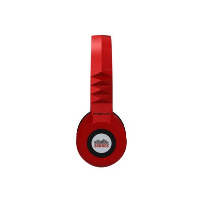 SOUNDS - Streetlife - Premium Bluetooth Stereo OnEar-Kopfhörer / Headset / MicroSD / FM (All-In-One) rot