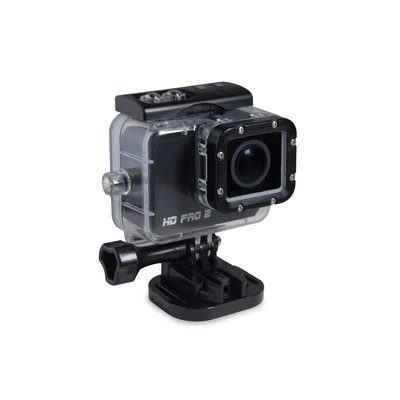 HD PRO 2 Action Cam (Full HD, 60 fps, 20 Megapixel, 2 Zoll LCD Display, WiFi, gratis App) schwarz