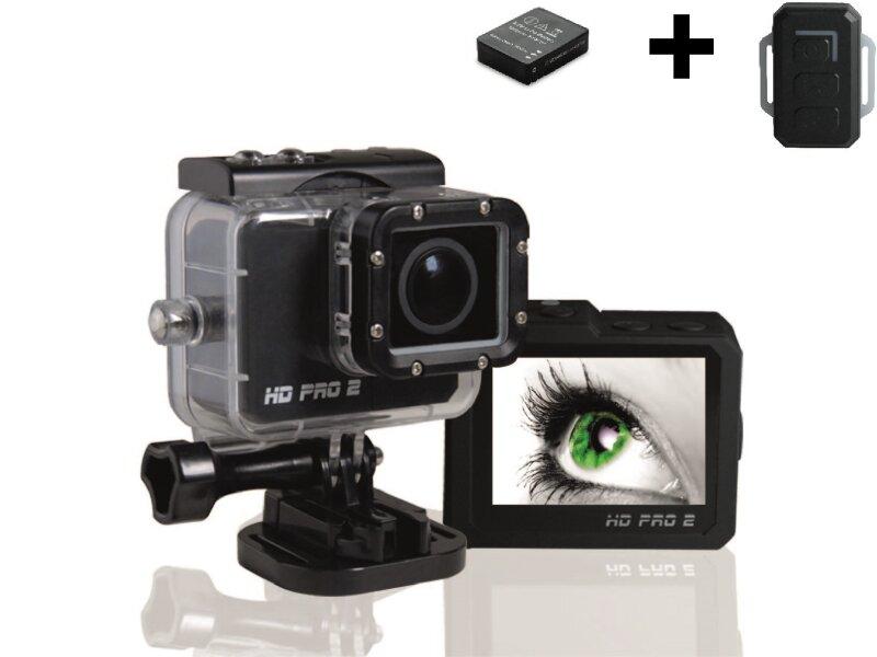 hd pro 2 action cam komplett set fernbedienung. Black Bedroom Furniture Sets. Home Design Ideas
