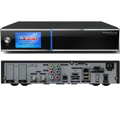 gigablue hd quad plus ci twin linux hdtv sat receiver pvr ready schw. Black Bedroom Furniture Sets. Home Design Ideas