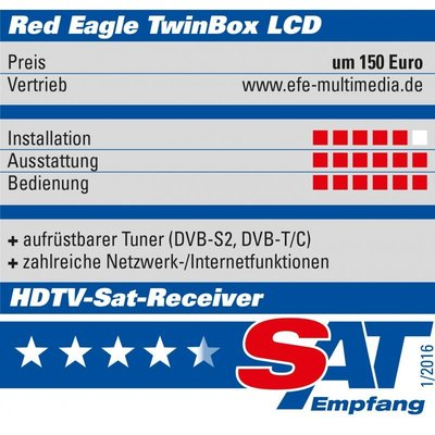 Red Eagle TwinBox LCD Full HD Linux E2 Sat Receiver DVB-S2