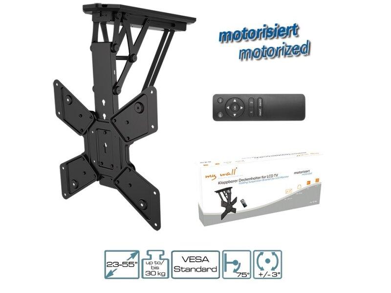 mywall lcd led plasma tv klappbarer motorisierter deckenhalter 23 55 zoll 58 cm 140 cm vesa - Motorisierte Tvhalterung