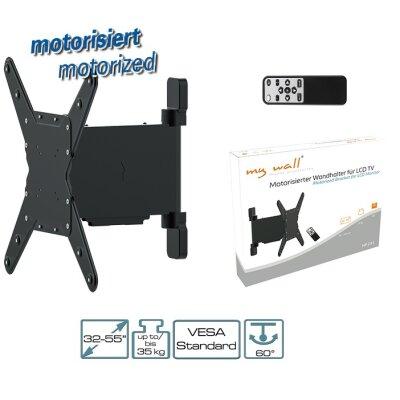 mywall lcd led plasma tv motorisierter wandhalter 32 55 zoll 81 140cm vesa - Motorisierte Tvhalterung
