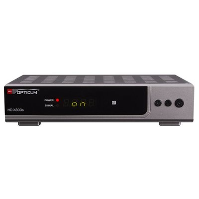 Opticum HD AX 300s PVR HDTV-Satellitenreceiver (PVR ready, Full HD 1080p, HDMI, USB, S/PDIF Coaxial, Scart) - silber