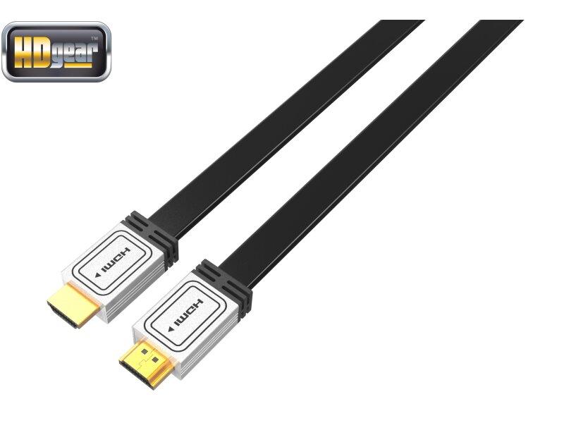 hdgear hk0003 hf high end hdmi kabel high speed flachkabel. Black Bedroom Furniture Sets. Home Design Ideas
