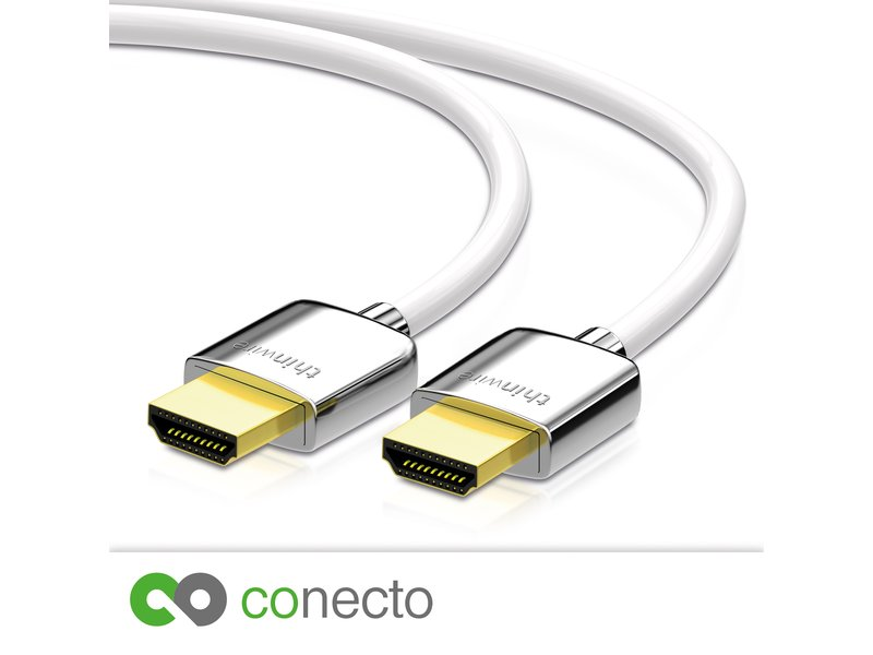 conecto thinwire premium high speed hdmi kabel mit. Black Bedroom Furniture Sets. Home Design Ideas