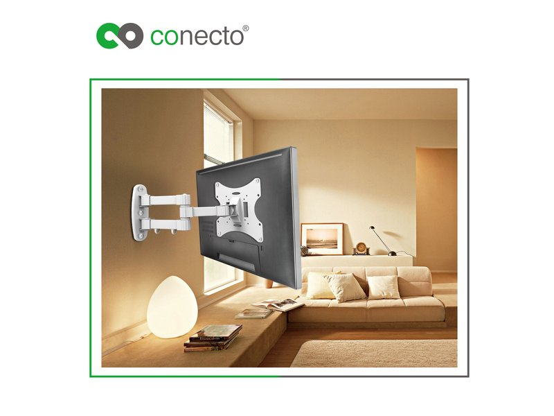 conecto lcd led tv fernseher monitor wandhalterung neigbar schwenkba. Black Bedroom Furniture Sets. Home Design Ideas