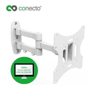 conecto lcd led tv fernseher monitor wandhalterung neigbar schwenkba. Black Bedroom Furniture Sets. Home Design Ideas