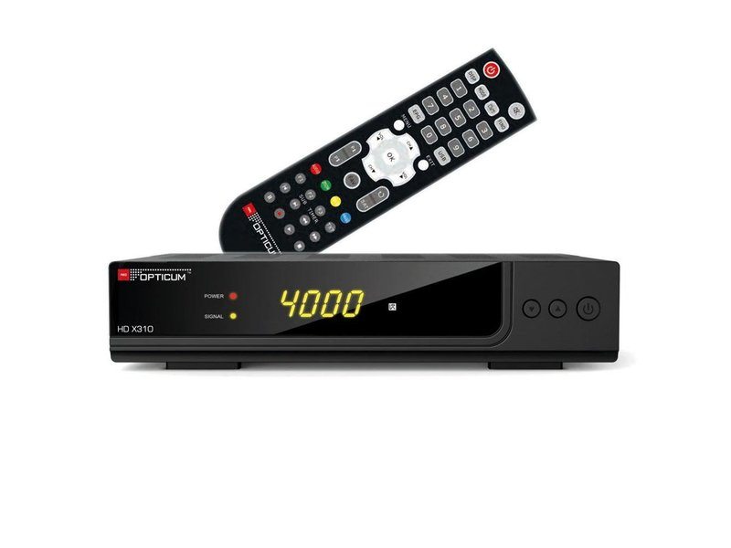 Opticum HD XC310 FullHD Digital DVB-C Kabelreceiver (Conax CA-Slot, PVR, USB, Scart, HDMI, Multimedia) Cable-Receiver HDTV schwarz