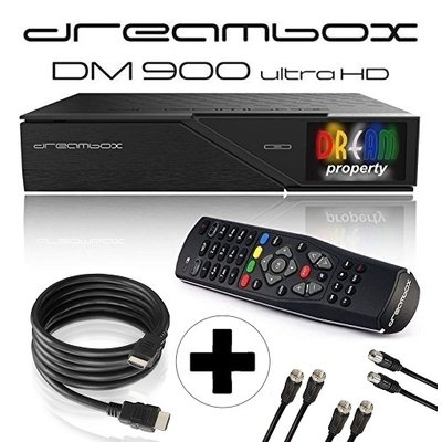Dreambox DM900 UHD 4K E2 Linux Receiver mit 2x DVB-S2X /...