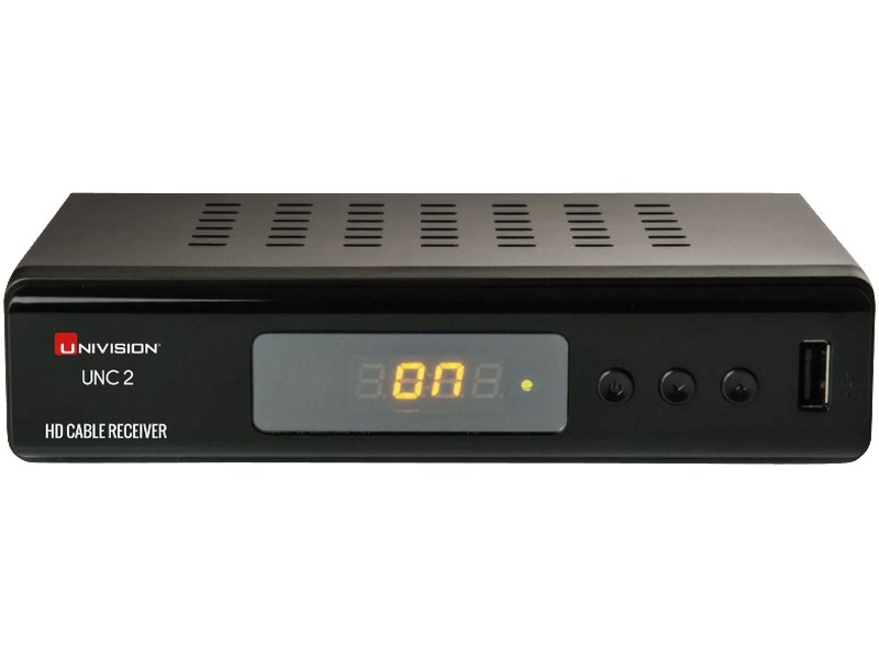 Univision UNC2 - HD Kabelreceiver (HDMI, Full HD 1080p, EPG, SCART, Coaxial, USB, Mediaplayer) schwarz