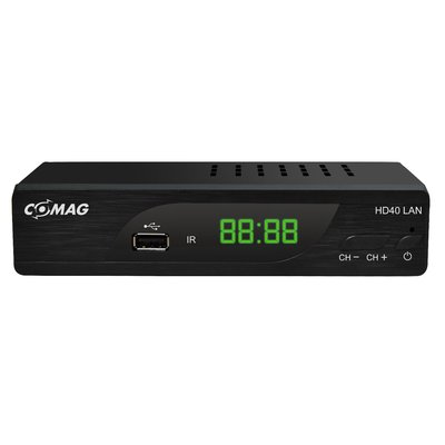 COMAG HD40 LAN Digitaler HD Sat Receiver (HDTV, DVB-S2, HDMI, SCART, PVR-Ready, USB 2.0) inkl. HDMI-Kabel schwarz