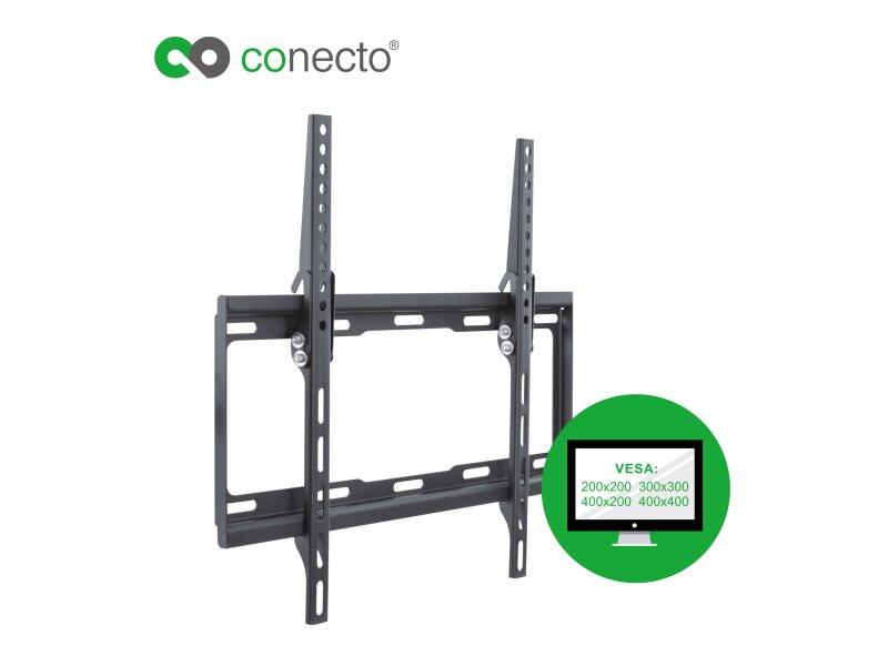 conecto cc50262 wandhalterung f r tv ger te mit 66 132 cm. Black Bedroom Furniture Sets. Home Design Ideas