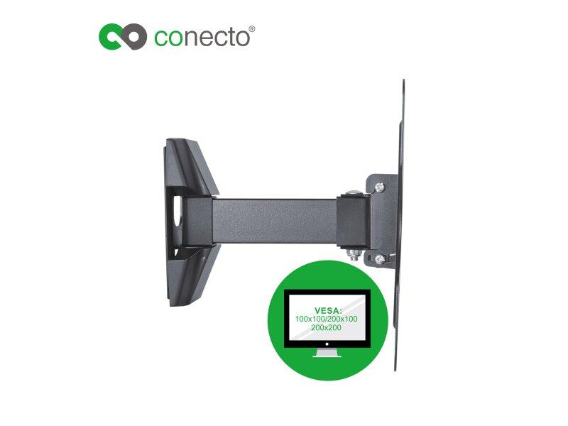conecto cc50269 wandhalterung f r tv ger te mit 58 107 cm. Black Bedroom Furniture Sets. Home Design Ideas
