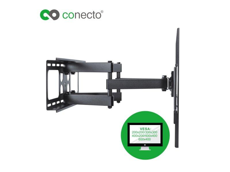 conecto cc50273 wandhalterung f r tv ger te mit 94 178 cm. Black Bedroom Furniture Sets. Home Design Ideas