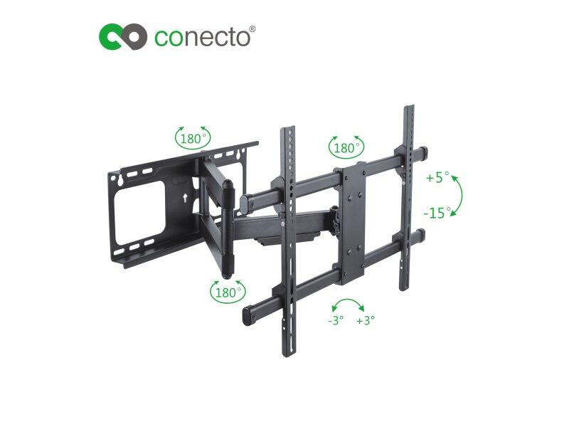 conecto cc50275 wandhalterung f r tv ger te mit 94 178 cm. Black Bedroom Furniture Sets. Home Design Ideas