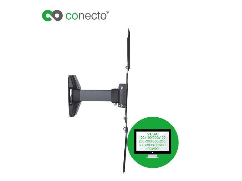 conecto cc50277 wandhalterung f r tv ger te mit 81 140 cm. Black Bedroom Furniture Sets. Home Design Ideas