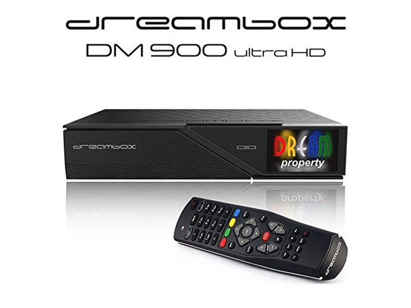 Dreambox DM900 UHD 4K E2 Linux Receiver mit 1x DVB-S2 Dual Tuner (1000 GB)