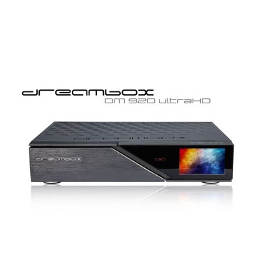 Dreambox DM920 UHD 4K E2 Linux PVR Receiver mit 1x DVB-S2 Dual Tuner