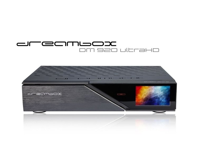 Dreambox DM920 UHD 4K E2 Linux PVR Receiver mit 1x DVB-S2X-MS Dual Tuner