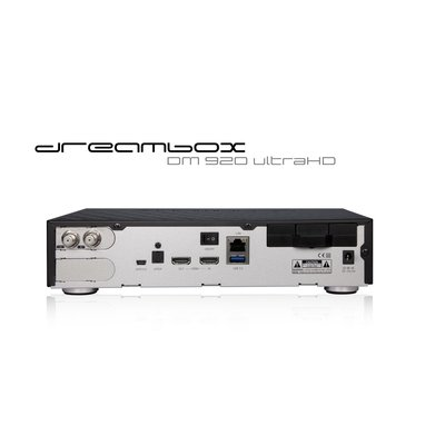 Dreambox DM920 UHD 4K E2 Linux PVR Receiver mit 2x DVB-S2 FBC Twin Tuner