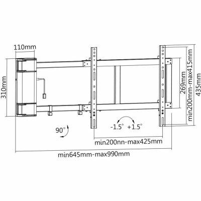 ... MyWall LCD   LED   Plasma   TV   Motorisierter Wandhalter 32 60 Zoll (
