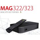 MAG 322w1 Full HD HEVC H.265 IPTV Receiver Multimedia Player Streamer Set-Top-Box mit einem eingebauten WiFi-Modul