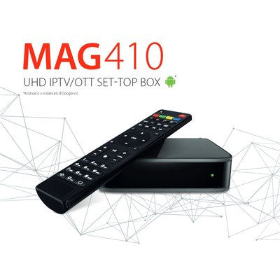 MAG 410 UHD 4K H.265 Android IPTV Receiver Multimedia...