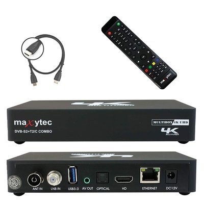 Maxytec Multibox 4K UHD 2160p H.265 HEVC Android & E2...