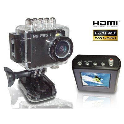 HD PRO 1 Action Cam (Full HD, 60 Bilder/Sek., 5 Mpixel, 1,5 Zoll LCD Display)