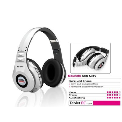 SOUNDS - Big City - Premium Bluetooth Stereo Kopfhörer Headset (All-In-One) weiß