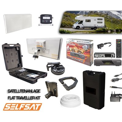 Selfsat TK30D Traveller Kit Satelliten-Flach-Antenne...